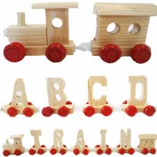 personalised kids name wooden train letters scrabble alphabet children baby gift