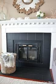 black tile fireplace fireplace tile mini with paint black tile fireplace with white mantle black tile fireplace