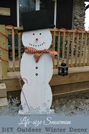 life size snowman diy outdoor winter decor