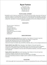 Security Operations Manager Resume Operations Manager Sample