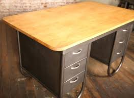 metal and wood desk authentic south bend lathe table metal desk with looped pipe legs inside