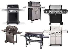 a collage of various gas grills d under 500