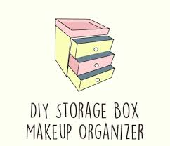 diy storage box makeup organizer 13 fun diy makeup organizer ideas for proper storage