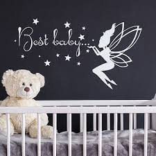 fairy wall decal best baby letter