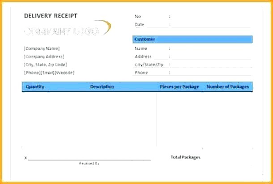 Excel Delivery Delivery Receipt Form Template Of Sample Proof Excel