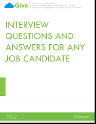 Job Interview Questions And Answers Interview Questions And Answers For Any Job Candidate Giva