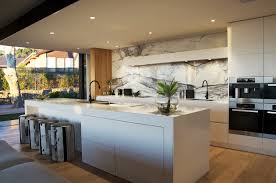 Kitchen Benchtop Love The Drawers The Splash Back And The Wood Panelling Kitchen