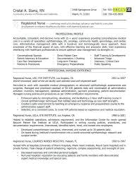 Ophthalmic Nurse Sample Resume