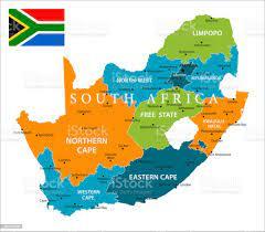 Güney Afrika Haritası Vektörel Stok Vektör Sanatı & Güney Afrika  Cumhuriyeti'nin Daha Fazla Görseli - iStock