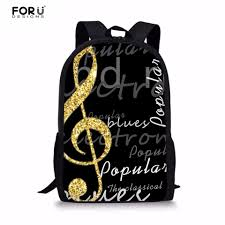 Online Shop <b>FORUDESIGNS</b> Men's Backpacks <b>3D</b> Music Note ...