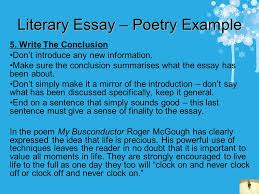 how to write essays some helpful tips contents cut the waffle  literary essay poetry example 5 write the conclusion don t introduce any new