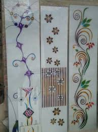 Flower Design Glass Door Lacquered Glass Design Window Glass Design Stained Glass