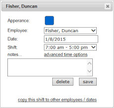 Employee Shift Employee Shift Scheduling With A Time Clock Ontheclock