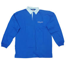 british seagull royal blue rugby shirt large
