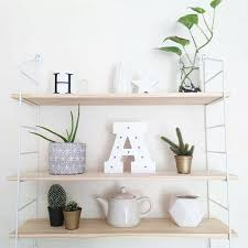 <b>Nordic Style</b> Scandinavian 3PCS <b>Wooden Boards</b> Metal Wall Shelf ...