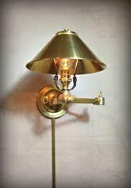 custom made adjule articulating wall mount light plug in metal sconce steel and