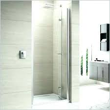 right handed semi shower door wide polished chrome with easy clean glass frameless bifold merlyn 8