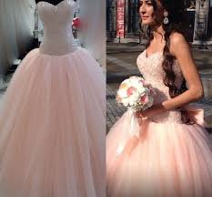 peach wedding dress. Modest Colored Peach Wedding Dress Vestido De Noiva 2015 Ball Gown