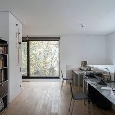 white office design. Wonderful Design Interior Design Home Office Simple Office Example Of A Minimalist  Freestanding Desk Medium Tone Wood For White