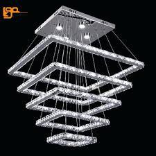 led crystal chandelier new design large led crystal chandeliers 5 ring lamp dinning room living room led crystal chandelier