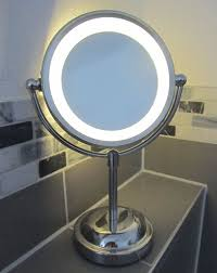 magnifying mirror with light. round magnifying led illuminated bathroom make up cosmetic shaving vanity mirror: amazon.co.uk: beauty mirror with light g