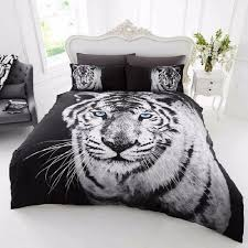 3d white tiger duvet cover
