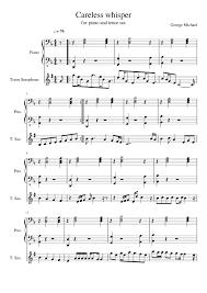Tenor Sax Chart Careless Whisper For Piano And Tenor Sax Sheet Music For