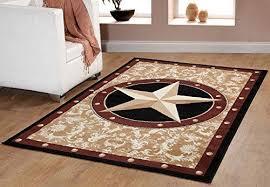 texas western star cowboy decor gold 5 x7 5 area rug
