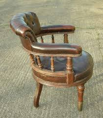 leather desk chair. Antique Leather Desk Chair - Late 19th Century Victorian