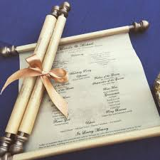 Wedding Program Scroll Wedding Program Scroll Example From Cherokee Ranch