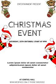 Christmas Event Christmas Event Flyer Template Postermywall