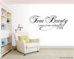 Beautiful Wall Quotes Best of Beauty Salon Wall Decal Quote True Beauty Inspirational Beautiful