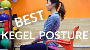 best posture for kegel exercises that