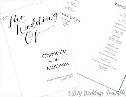 Wedding Ceremony Templates Free Wedding Ceremony Template Free Preview Program Download