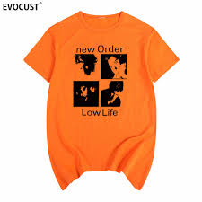 <b>NEW ORDER low life</b> Joy Division punk rock T shirt Cotton Men T ...