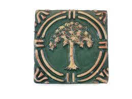 Arts And Crafts Decorative Tiles Arts and Crafts Tree Decorative Tile by Moravian American Art 63