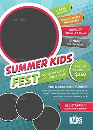 Summer Program Flyer Templates Summer Camp Flyer Template Kids