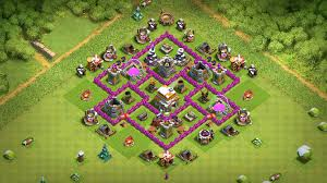 Clash Of Clans Th6 Base Design New Best Th6 Hybrid War Base With Replays