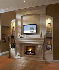 Over The Fireplace Tv Cabinet Funny Mantel Shelf Ornaments For Display And Book Organizing