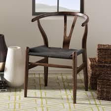 dark wood dining chairs. Baxton Studio Modern Dark Brown Wood Dining Chair With Black Hemp Seat Chairs