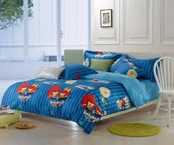 angry birds stripe deep blue full queen size bedding sets