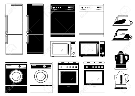 Domestic Kitchen Appliances Domestic Appliances Royalty Free Cliparts Vectors And Stock