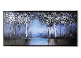 cobalt tree hand painted canvas wall art from bed bath and beyond