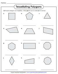 We live in a colorful world! Tessellation Worksheets