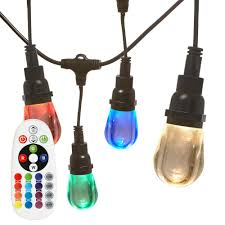 Italian String Lights Home Depot Newhouse Lighting 24Socket 24 Ft 24Watt LED Remote Controlled 21