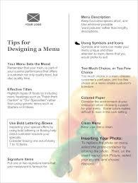 A La Carte Menu Template Table D Hote Menu Sample For Lunch Elcho Table