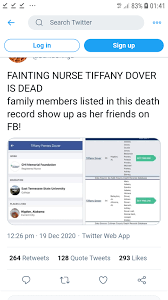 Nurse Tiffany Dover may have Died after Covid Vaccine live on TV. Evidence  will be hard to come by, the fake News Media will cover it up, the fact  checkers will be