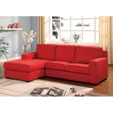 Nebraska Furniture Mart Living Room Sets Red Microfiber Multifunction Reversible Sectional Sofa Chase
