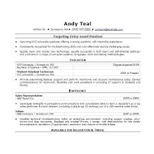 Resume Templates And Examples Medical Resume Template Entry Level ...