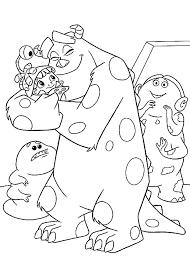 Monsters En Co Kleurplaten Disneykleurplatencom